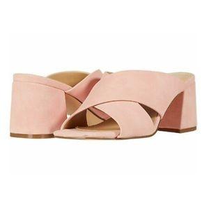 Nine West Pink Glimpse Block Heel Sandals Size 6.5